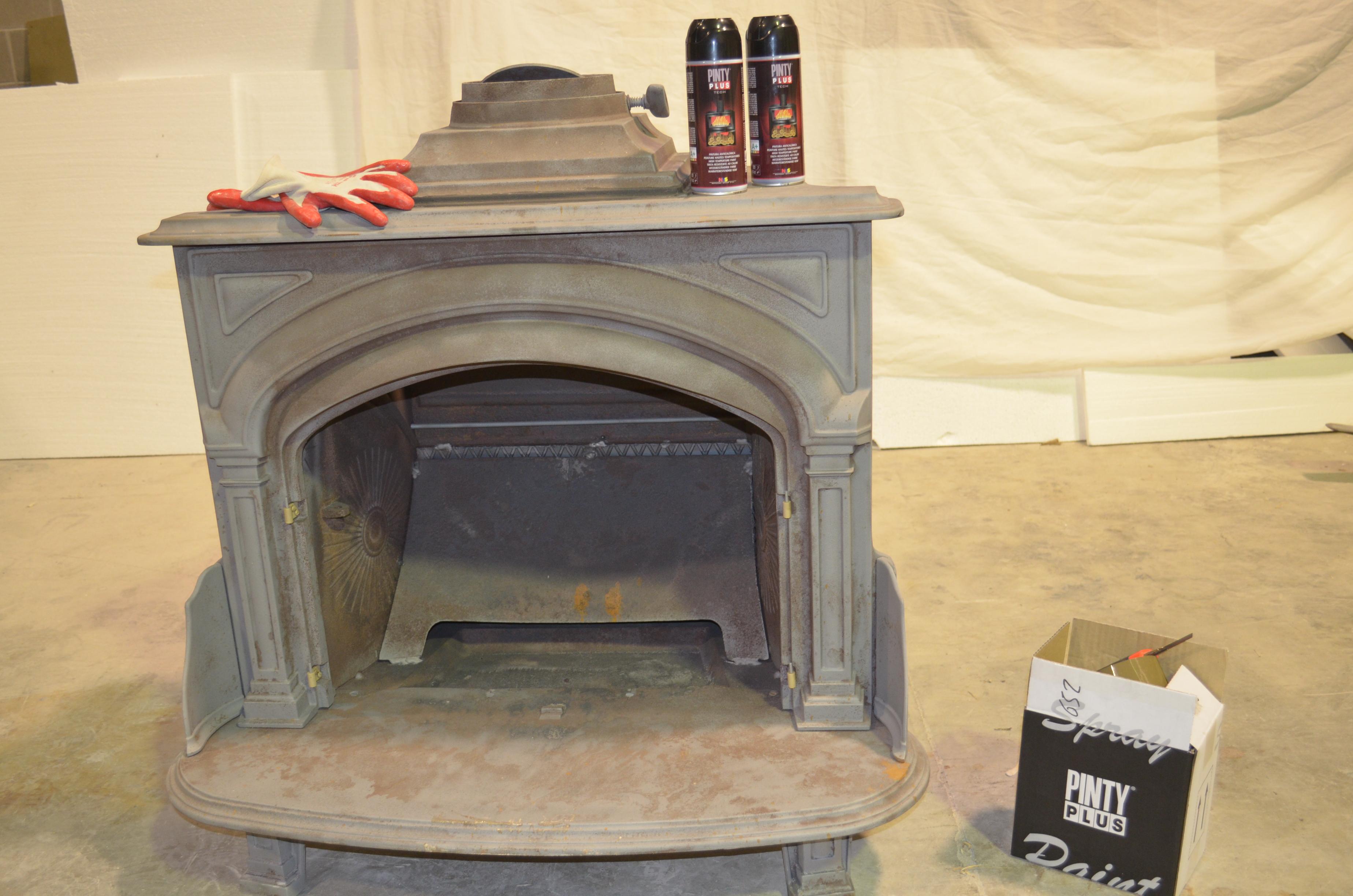 Secrets vintage pintar una chimenea de hierro - Chimeneas de segunda mano ...